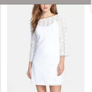 NwT Lilly Pulitzer resort white lace dress large